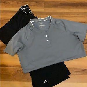 Adidas golf shirts